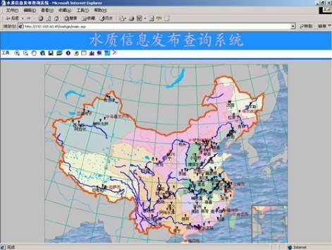 地图展示系统界面