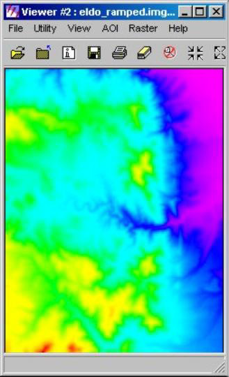 erdas系统中制作色彩平滑晕渲dem影像的方法
