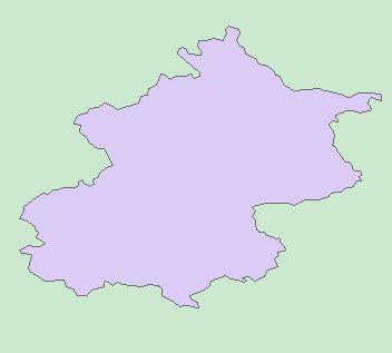 北京手绘地图轮廓